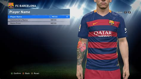 Messi Tattoo In Pes 2016 | jasa instal isi game android dan pc termurah di pekanbaru