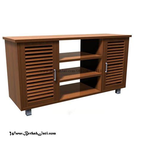 Lemari Bufet Minimalis Modern Kombinasi 2 Warna bufet tv minimalis kayu desain simple berkah jati furniture berkah jati furniture