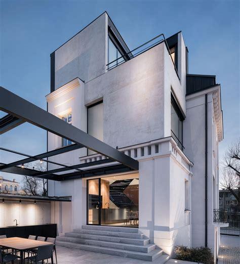 design art stara zagora classic white concrete house rebuilt in stara zagora