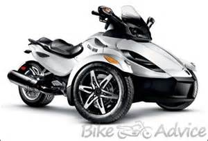 can am spyder the three wheeled motorcycle bikeadvice in