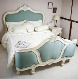 reproduction mahogany style curved upholstered bed