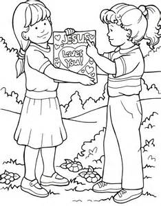 coloring pages tell people about jesus can tell my