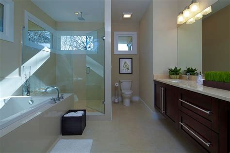 Contemporary Bathroom Vanity Ideas - contemporary master bathroom with rain shower head by epic development zillow digs zillow