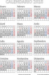 El Salvador Calendario 2018 Calendario De Colombia 2018 Imprimir El Pdf Gratis
