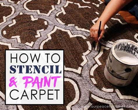 Can You Paint An Area Rug how to stencil paint carpet hometalk