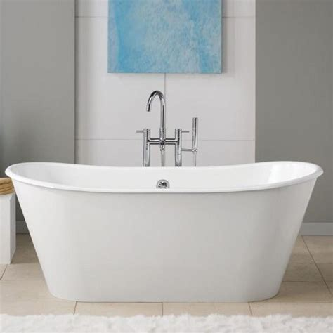contemporary bathtubs cheviot iris 66 in double slipper cast iron freestanding