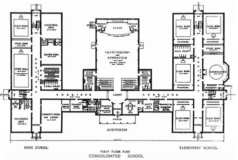 floor plan school consolidated school jpg 800 215 540 architecture