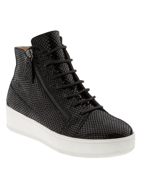 high top wedge sneaker banana republic alex wedge high top sneaker in black lyst
