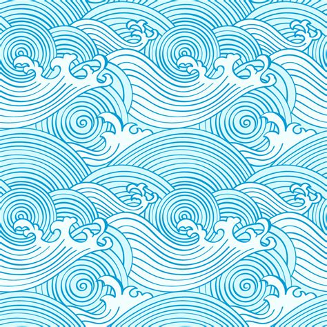 background pattern japan japanese seamless waves pattern in ocean colors ohpopsi