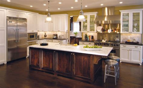 Kitchen Table Island Ideas traditional kitchen with contrasting island traditional