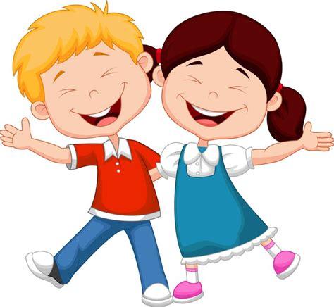 imagenes niños felices animadas cuadro en lienzo ni 241 os felices de dibujos animados