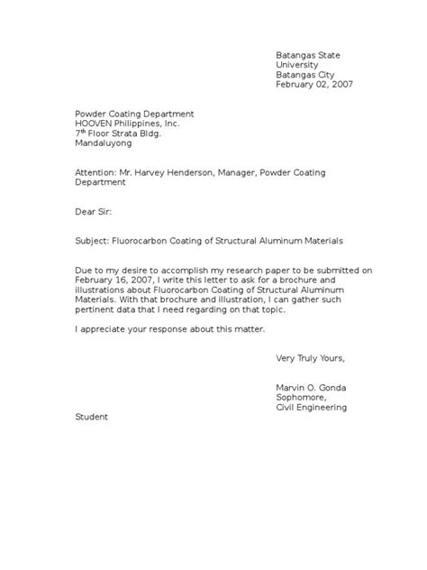 Business Letter Writing Inquiries essentials of writing an inquiry letter