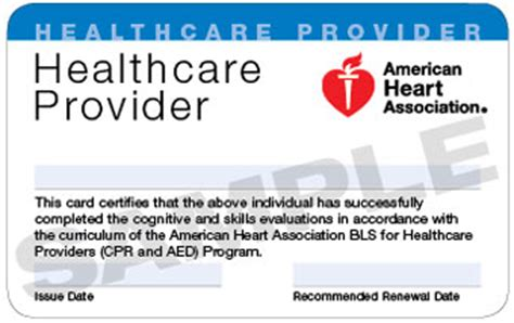 american association healthcare provider card template aha center acls bls pals tncc st david s