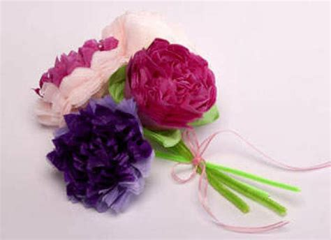 Tissue Paper Craft Flowers - c 243 mo hacer flores de papel manualidades