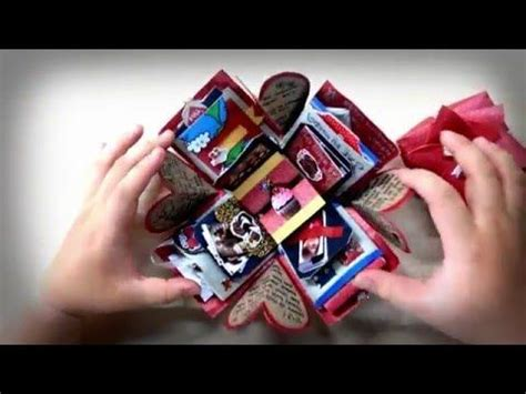 tutorial carding full exploding box card full tutorial sweetheart surprise theme