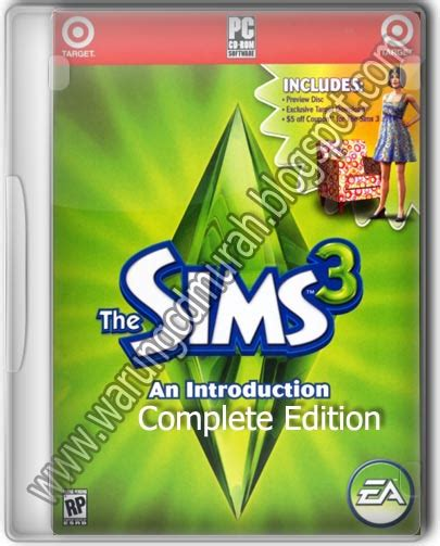 The Sims 3 Complete warung cd murah the sims 3 complete edition 5 dvd