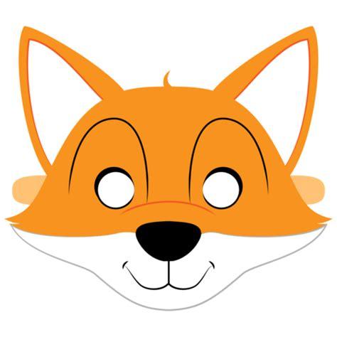 fox template fox mask template free printable papercraft templates