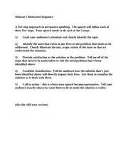 Monroes Motivated Sequence Outline Topics by Speech 101 Debate Las Positas College Course