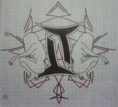 unique gemini tattoo designs unique black ink tribal gemini design
