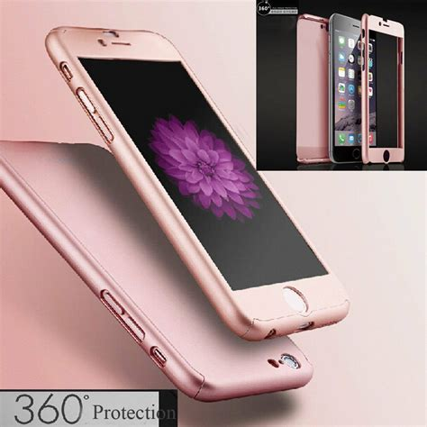 360 176 hybrid tempered glass acrylic cover for iphone 6 6s 7 plus ebay