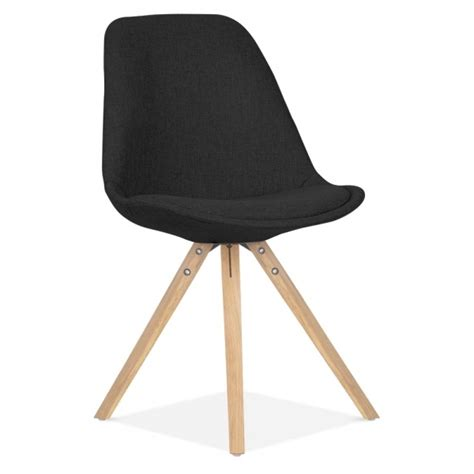 scandi designs pyramid upholstered dining chair  black cult uk