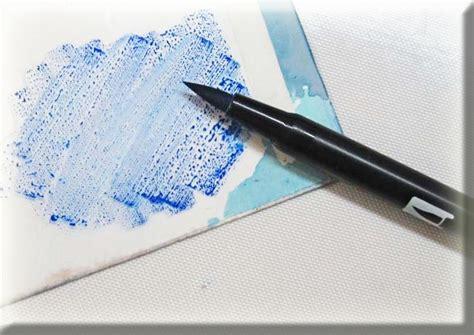 tombow tip niques brush blending  dual brush pens