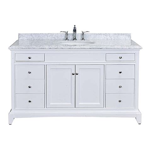 bed bath and beyond stamford eviva elite stamford 174 60 inch single bathroom vanity in
