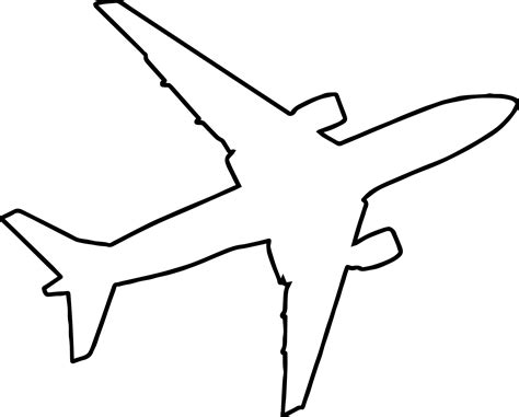 Outline Picture by Airplane Outline Silhouette Coloring Page Wecoloringpage