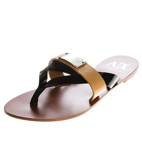 armani exchange slippers armani exchange two tone sandal armani shoes