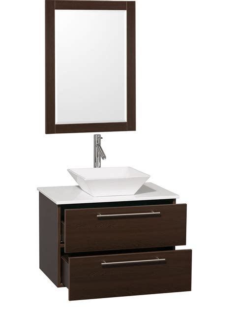 30 Quot Amare Single Vessel Sink Vanity Espresso Bathgems Com