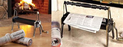 Make Your Own Paper Log Maker - newspaper log roller create your own starter logs the