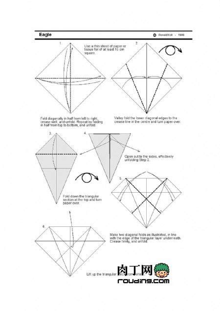 Origami Eagle Diagram - best 20 origami eagle ideas on origami