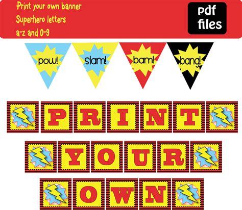 printable superhero banner items similar to superhero banner birthday party diy print