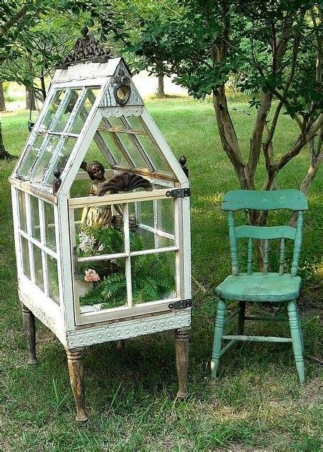 Greenhouse From Salvaged Windows Decor Greenhouse Greenhouses Made From Windows
