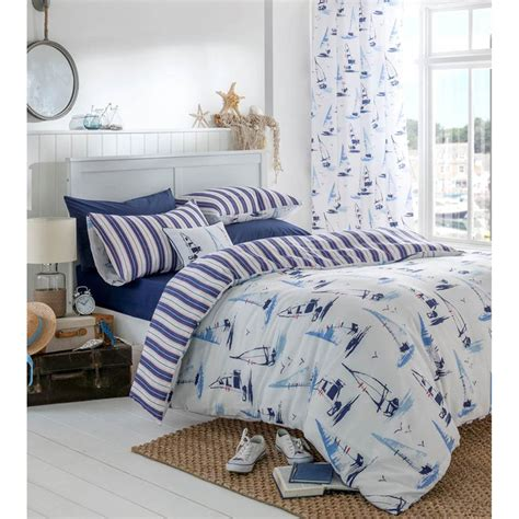 Bed Cover Motif 45 catherine lansfield padstow bedding set nautical iwoot
