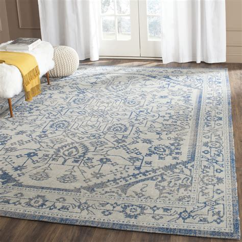 grey and blue area rugs light grey blue safavieh power loomed cotton area rugs ptn318c ebay