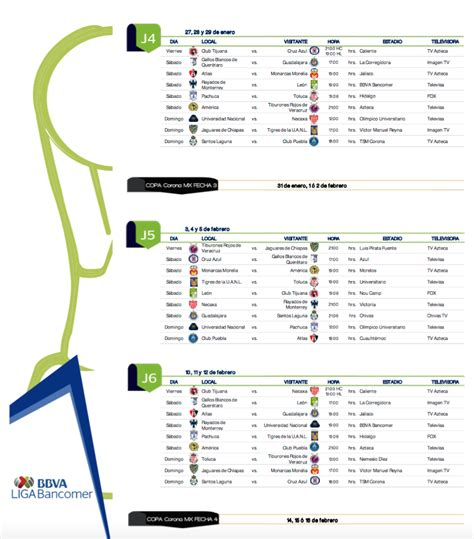 Calendario Liga Mx Chivas 2016 Calendario De La Liga Mx 2016 2017 Upcoming 2015 2016