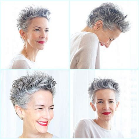 photos of short haircuts for older women | short