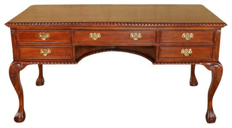 solid mahogany cherry chippendale executive writing table