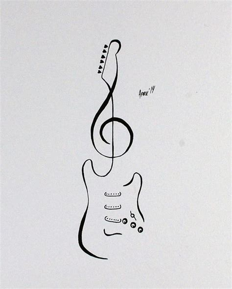 tattoo flash stratocaster guitar by aprilsink tattoos