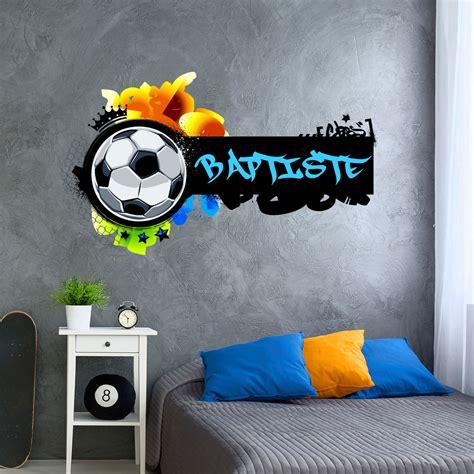 sticker prenom personnalisable football graffiti