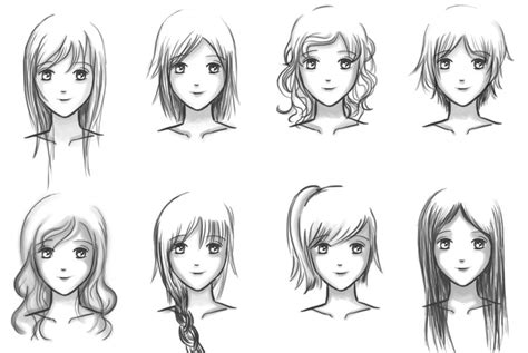 tutorial menggambar oc easiest hairstyle anime hairstyles