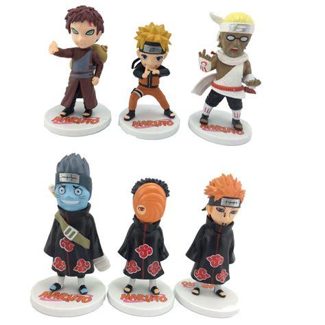 Figur Sasuke Hinata Kisame free shipping model toys 6pcs sasuke kisame figure anime doll