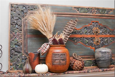 pottery decorating ideas fall 2012 mantel decadent and textured unskinny boppy