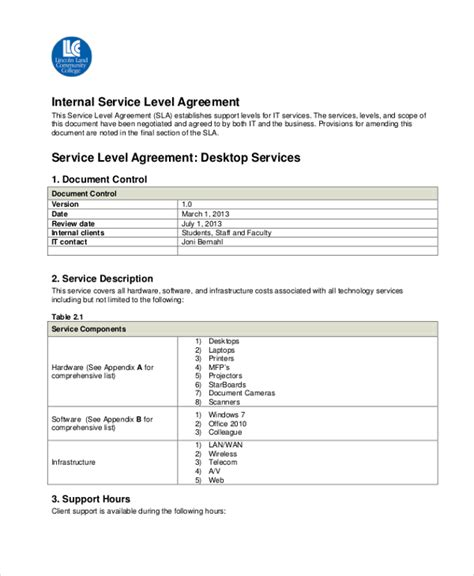 service level agreement template recruitment agency 28