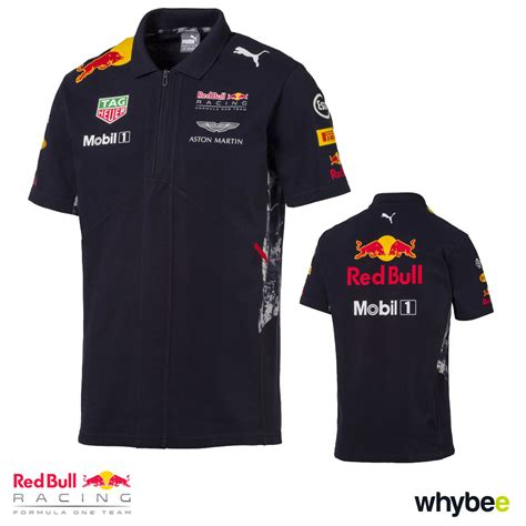 Polo Shirt One Logo 1 new 2017 bull racing formula one team mens polo shirt