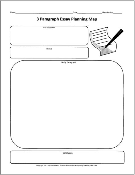 essay structure graphic organizer free graphic organizers for teaching writing