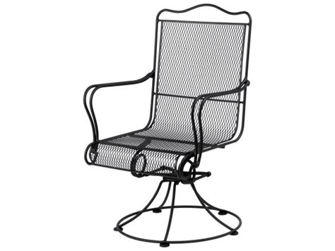 Wrought Iron Swivel Patio Chairs with Woodard Tucson Wrought Iron High Back Swivel Rocker Patio
