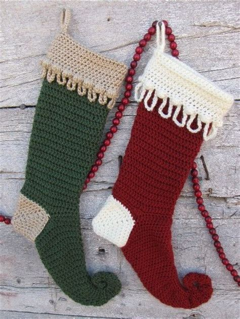 simple crochet pattern for christmas stocking patterns of crochet christmas stocking yishifashion