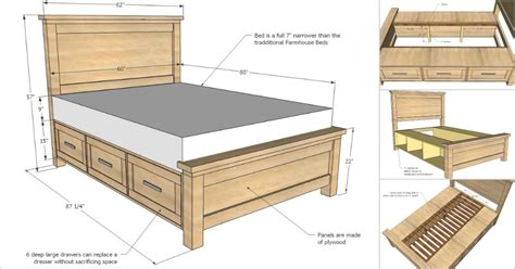 How To Make A Bed Frame With Drawers Creative Ideas How To Build A Farmhouse Storage Bed With Drawers Icreativeideas